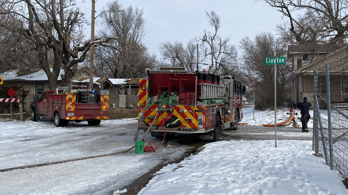 A woman was critically injured in a duplex fire in west Wichita on Friday.