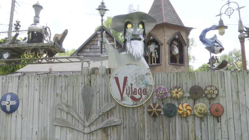 A retirement project has turned into the steampunk village in a west Wichita neighborhood.