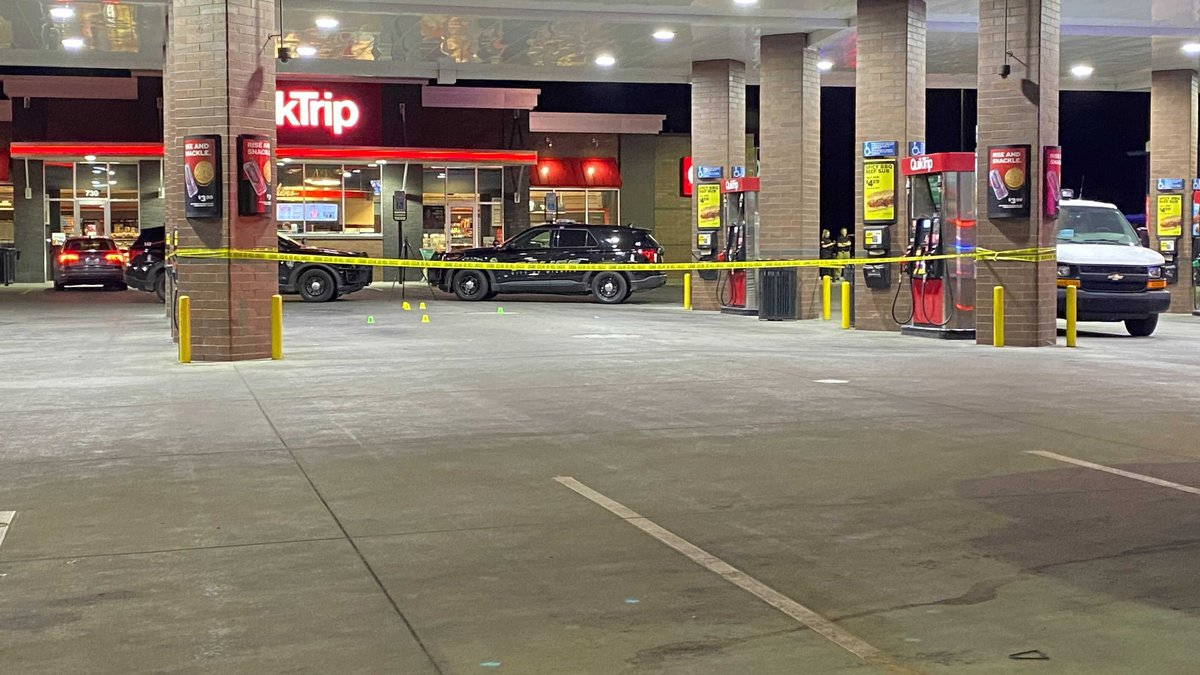 A woman was injured in a shooting at the Broadway and Murdock Quik Trip early Friday.