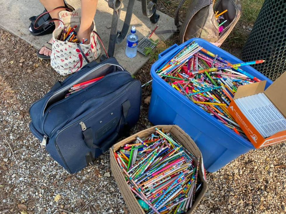 Over the last six years, Lexi Duff has collected more than 6,000 pencils.