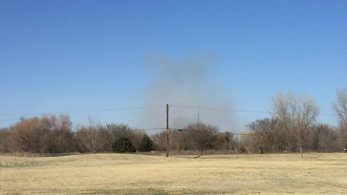 A fire burns near Hillside and 254 Saturday afternoon. This photo was taken from inside the...