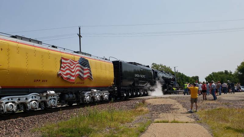 Big Boy No. 4014 stopped in Onaga Monday as part of a 10-state tour.