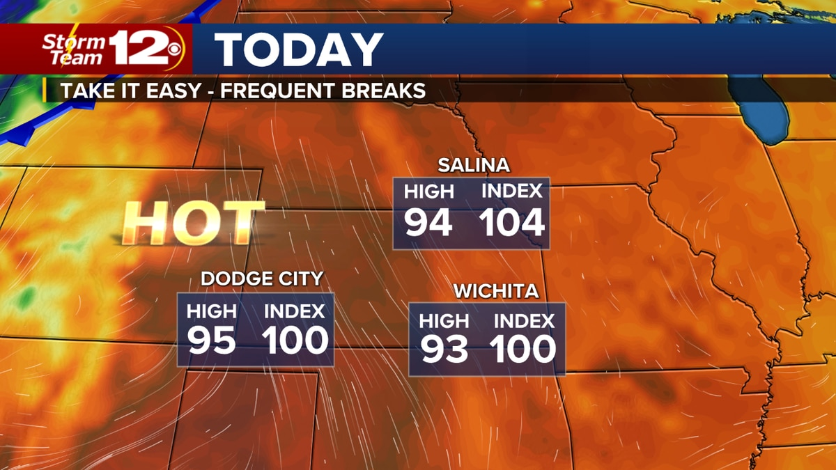 Storm Team 12 says we'll go from hot to hotter Thursday, with higher humidity before front...