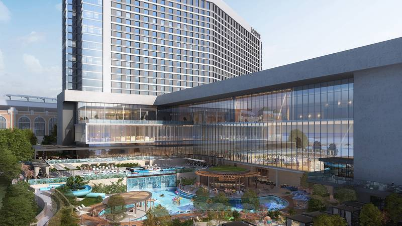 Rendering of the new Loews Arlington Hotel and Arlington Convention Center Developed by Loews...