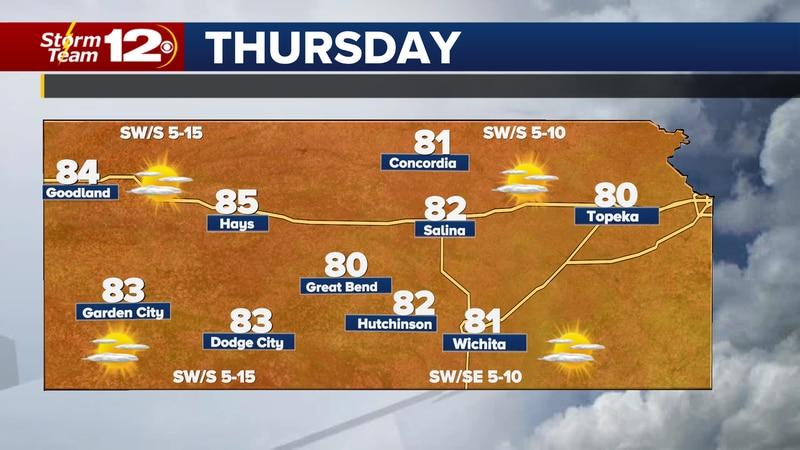 Forecast high temperatures Thursday.