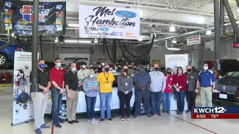 Mel Hambelton Ford donation to Wichita North HS