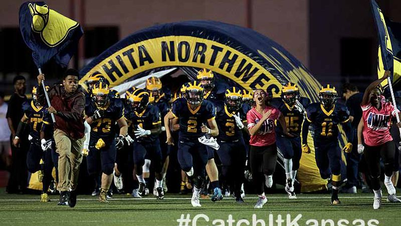 Garden City High School's football team played on the road versus Wichita Northwest High...
