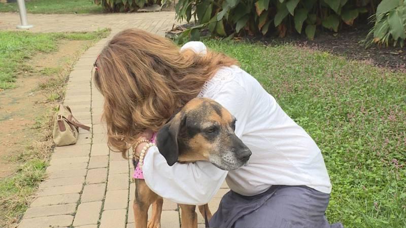 Donna Gomes hugs LaLa