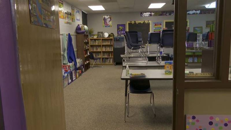 A look inside a classroom in the Haysville, Kan. school district