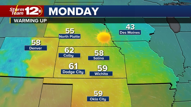 Our highs will be about 10-15 degrees above normal through the middle of the week, then a cold...