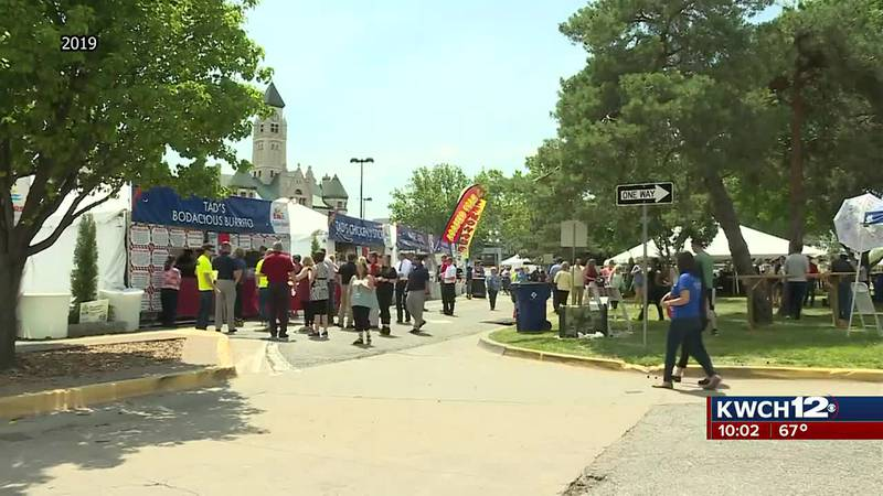 Crowd gathered in Wichita