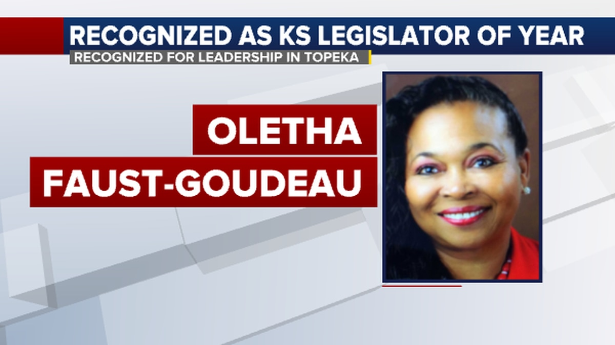 Kansas Senator Oletha Faust-Goudeau was recognized for her leadership in the Statehouse in...