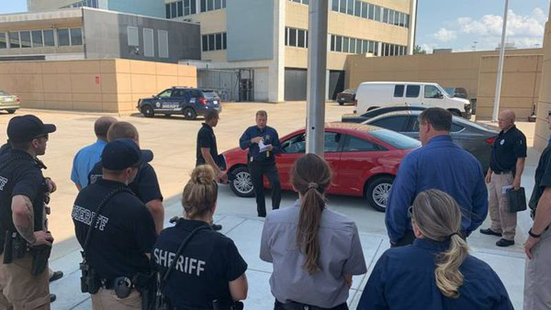 After struggles during Covid, Sedgwick County Police got together to get deputy a new car.