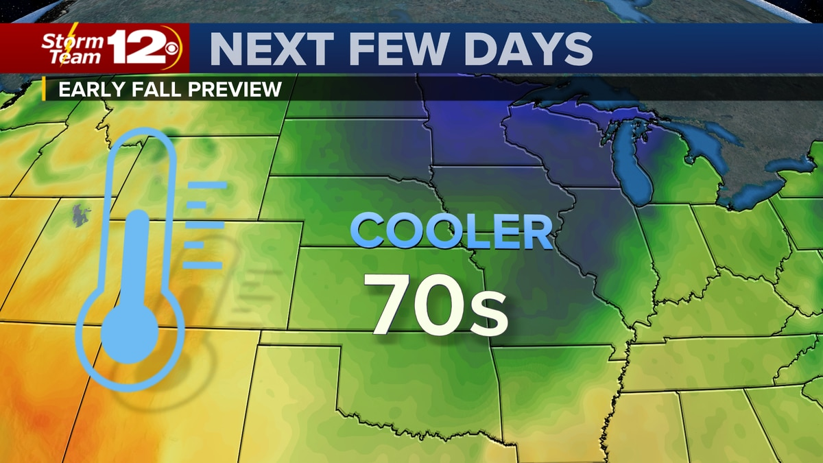 Temperatures will be cooler than normal through midweek.