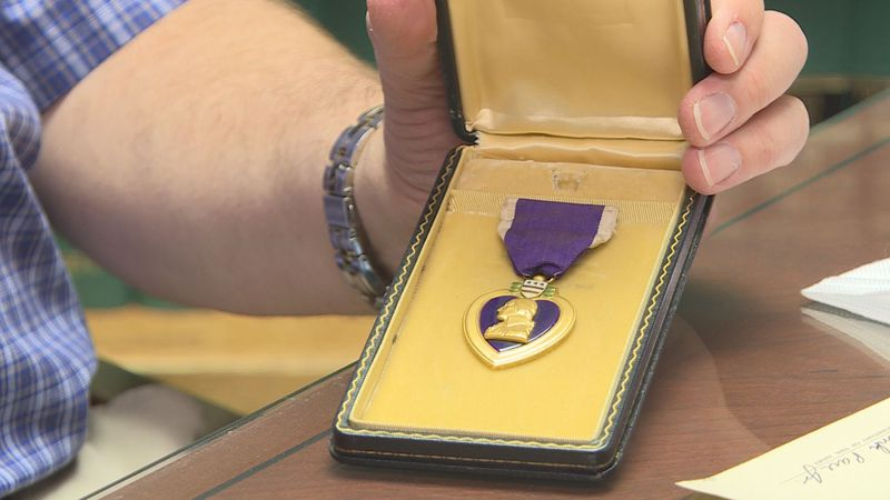Wichitan turns to Facebook to find owners of Purple Heart medal.