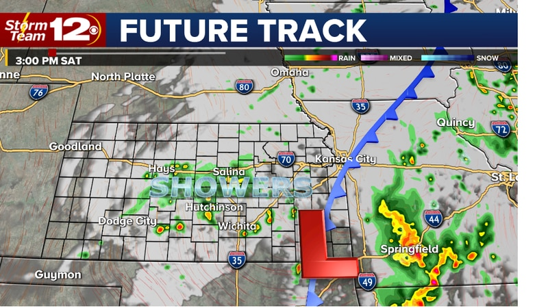 Wet today, dry and warmer Sunday
