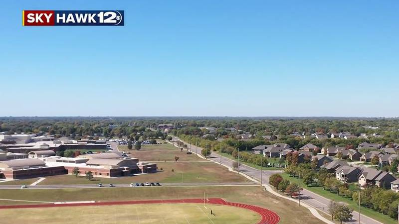 Aerial view of schools in Andover, Kan. district.