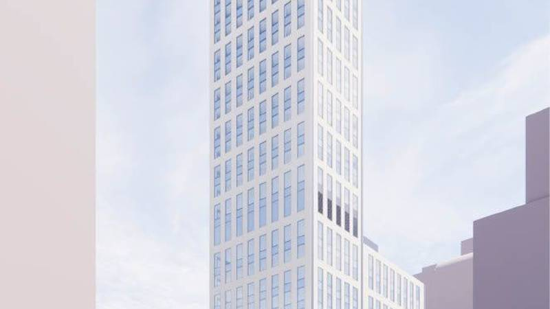 Initial Rendering of 403 East 79th Street. credit: Perkins Eastman Architects