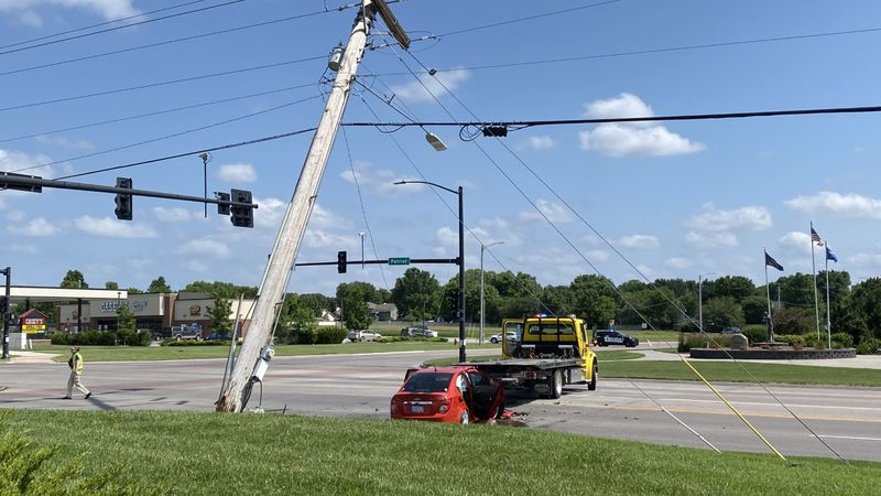 One person was critically injured Wednesday afternoon after a car crashed into a pole at...
