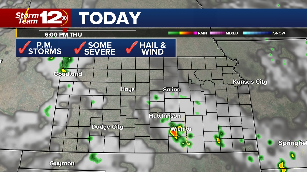Severe storms expected Thursday afternoon