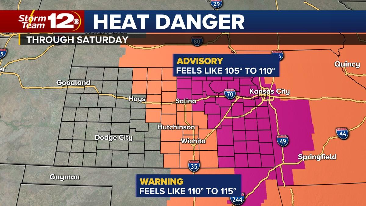 Dangerous heat continues across Kansas