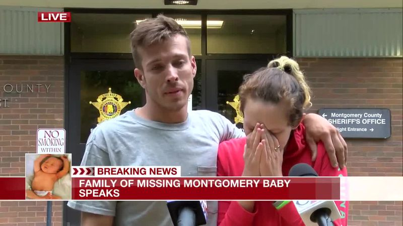 Parents of a missing 1-month-old baby gave a press conference on Wednesday. The baby's body was...
