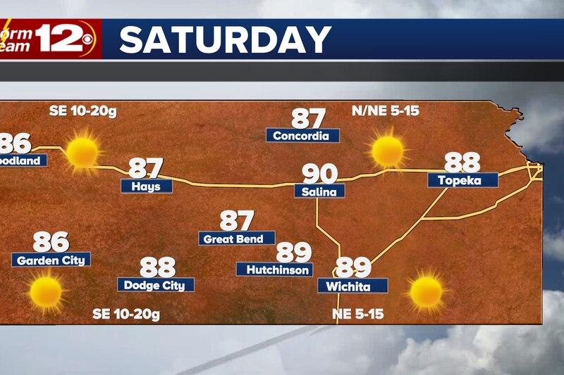 Still warm but less humid for Saturday