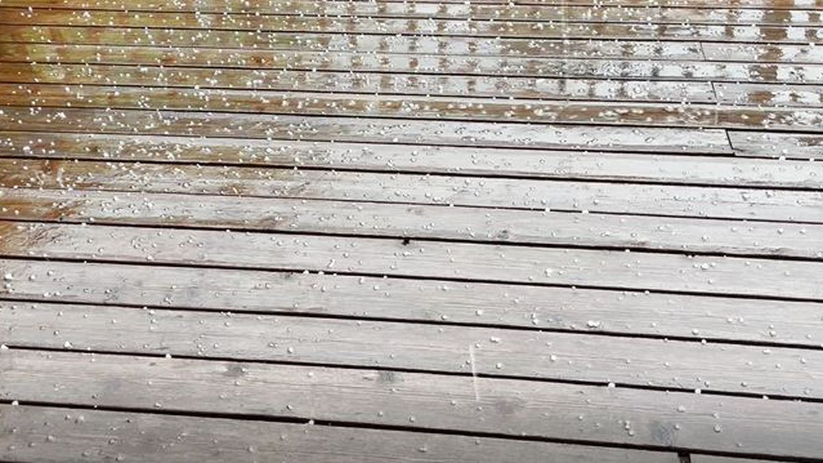 Storms moved through Wichita on Friday bringing with them lightning, thunder and some hail, as...