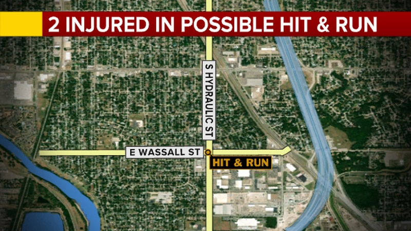 Two people were injured in a possible hit and run last night, according to emergency dispatch.