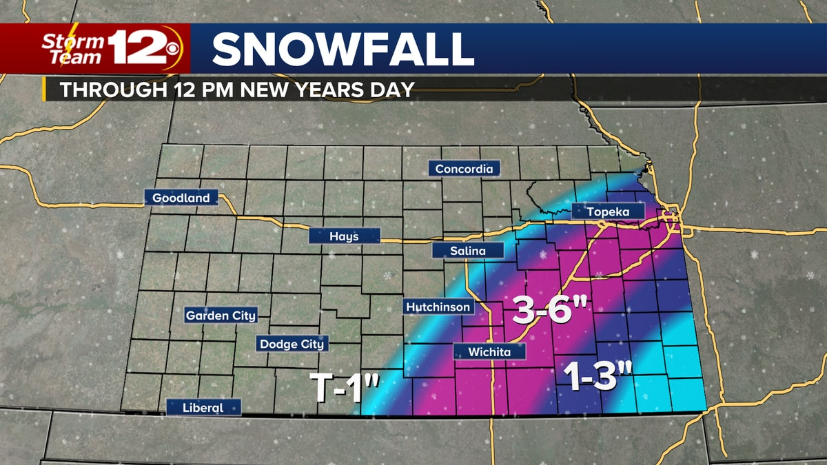 Heaviest snow will fall early Friday