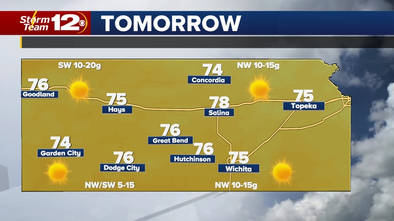 After a hot and windy weekend, cooler temps will take over on Monday.