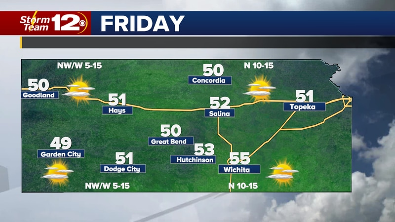 More mild weather for Friday shoppers