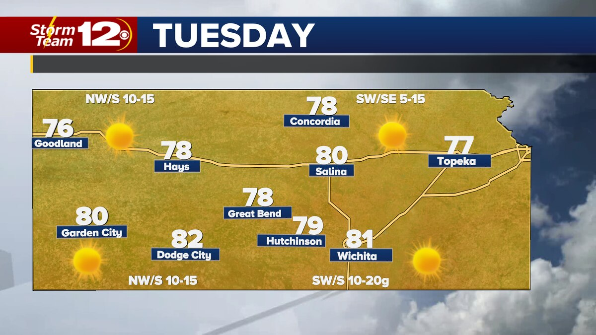 It looks warmer for much of the state on Tuesday.
