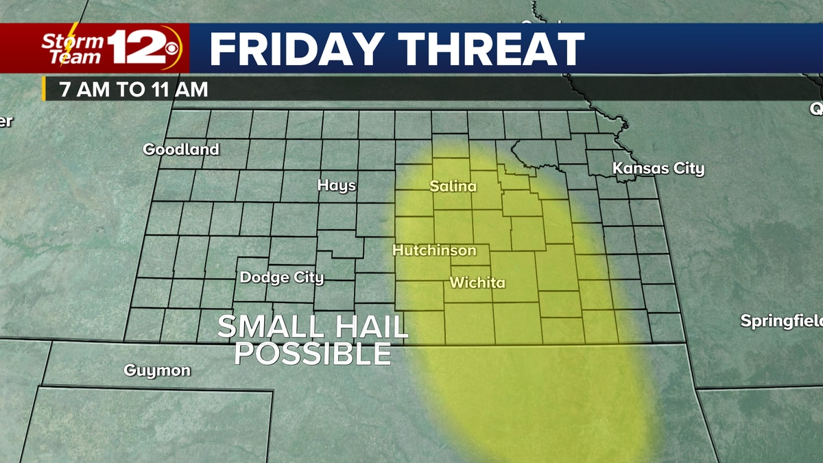 Threat area for thunderstorms Friday morning.