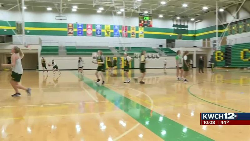 Bishop Carroll girls basketball practice