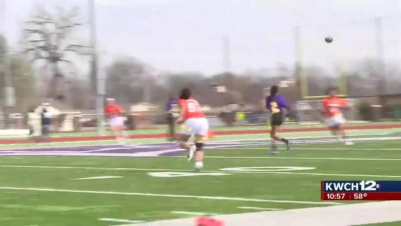 Kansas Wesleyan's women's flag football team gets program's first pair of wins