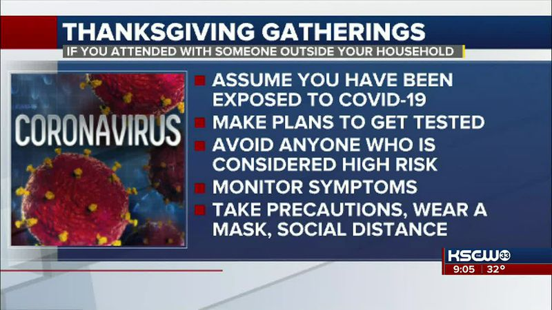 Guidelines if you attended Thanksgiving gathering