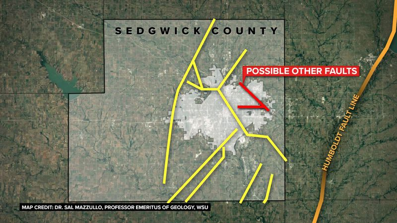Two unidentified fault lines in east Wichita could be the source of recent earthquakes in the...