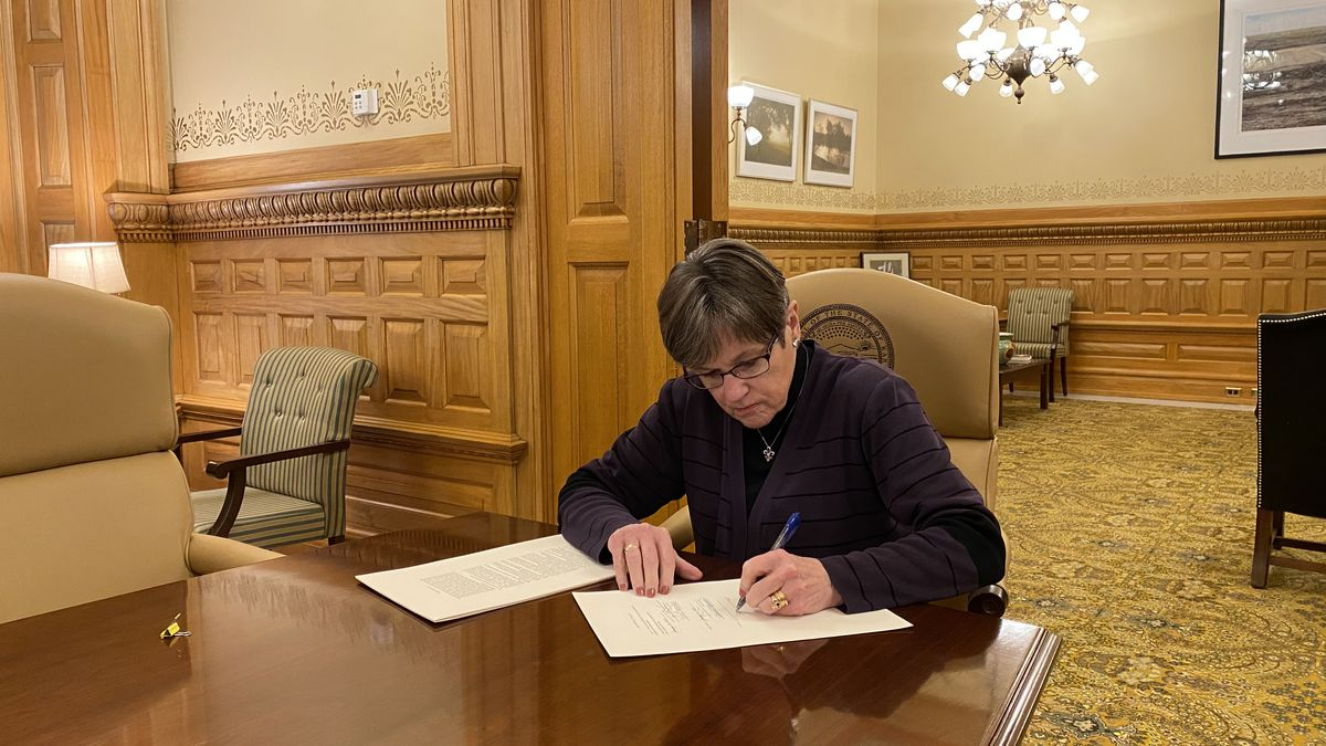 Governor Laura Kelly has signed a bill that extends the state's disaster declaration and allows...