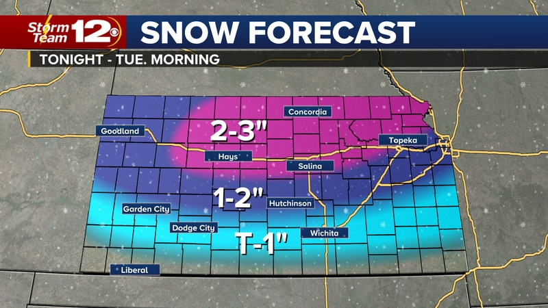 Meteorologist Jake Dunne says another cold front is coming to Kansas.