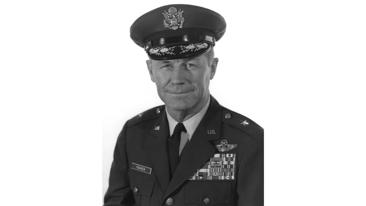 Chuck Yeager died Monday night at age 97, his wife said.