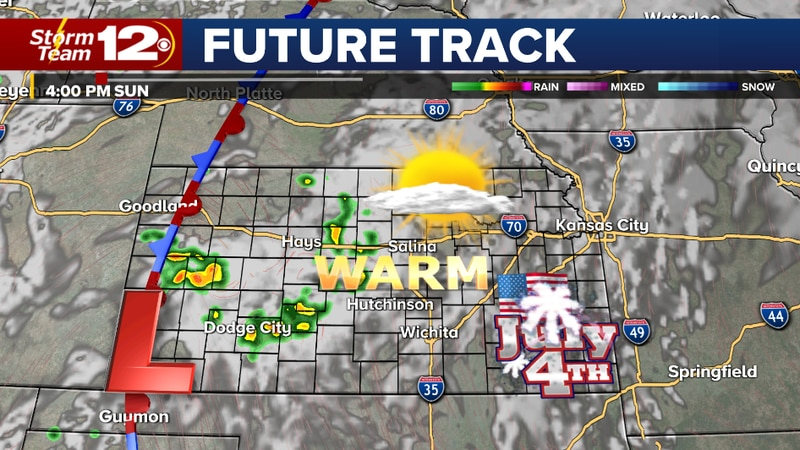 A few storms possible- 4th of July