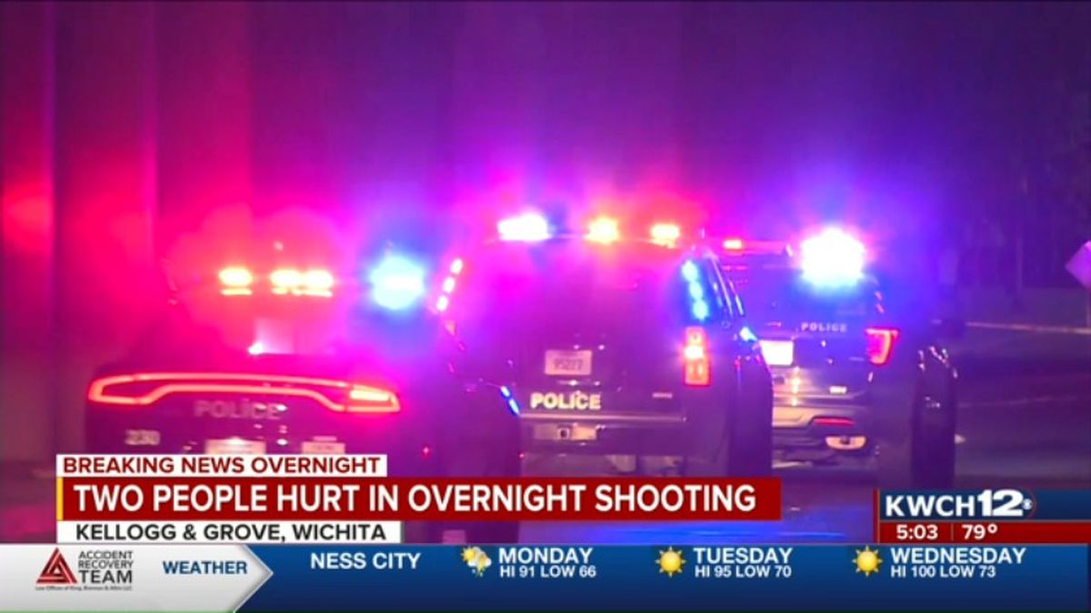 Two people were hurt in an overnight shooting at Kellogg and Grove