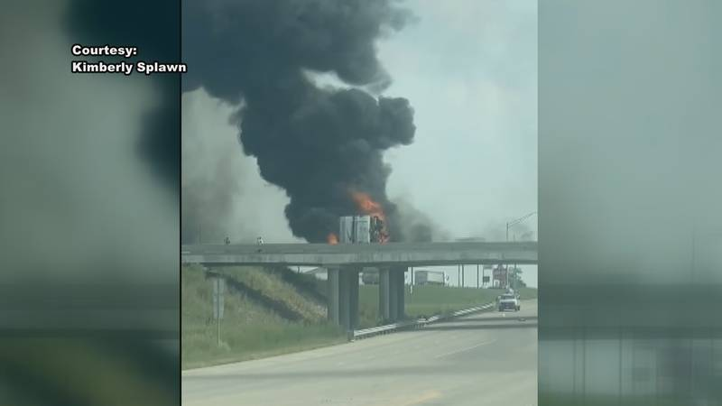 A motor home blew a tire, crashed, and burst into flames Aug. 2, 2021 in Coffey Co. The driver...