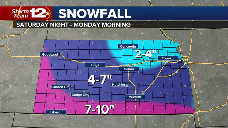 Snow and dangerous wind chills have prompted a Storm Team 12 Weather Alert through Monday.