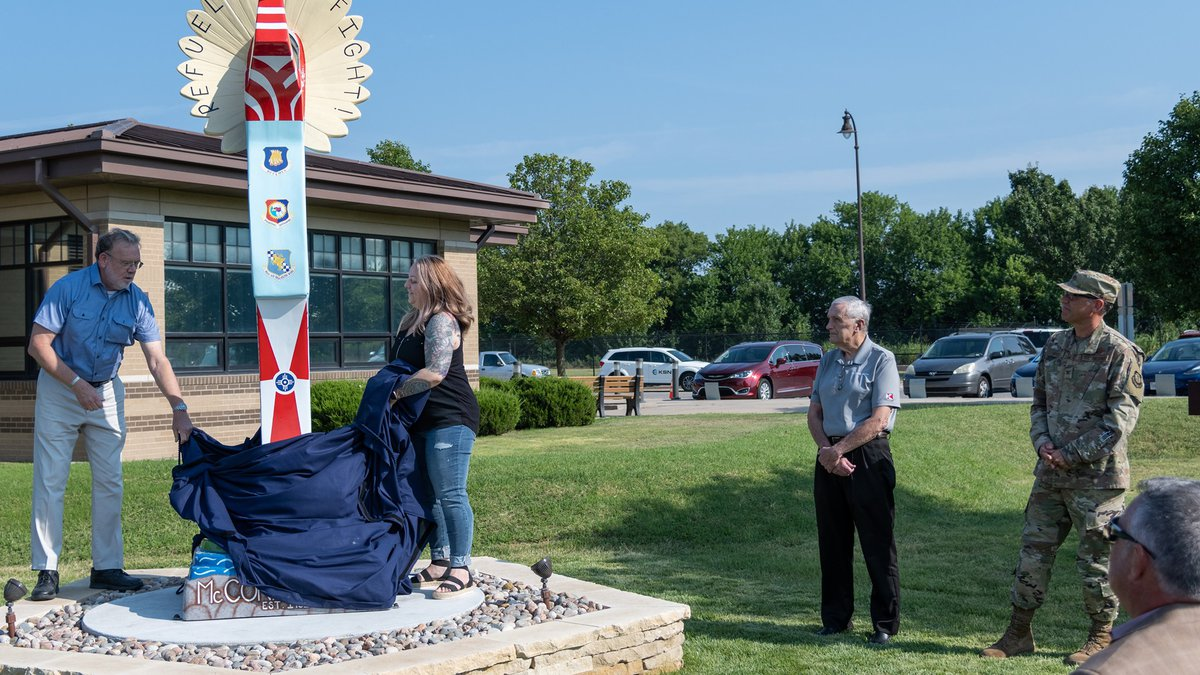 A new 10-foot tall Keeper replica was unveiled at McConnell Air Force Base Friday morning.