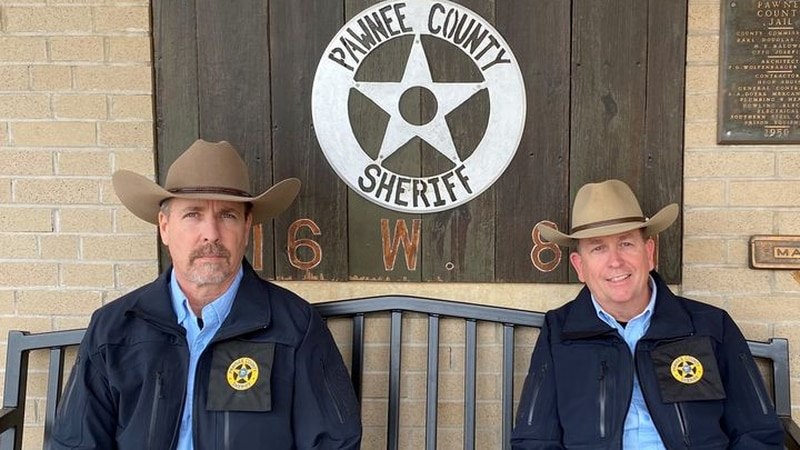 Pawnee County Sheriff Scott King and Undersheriff Larry Atteberry. (Photo courtesy of Pawnee...