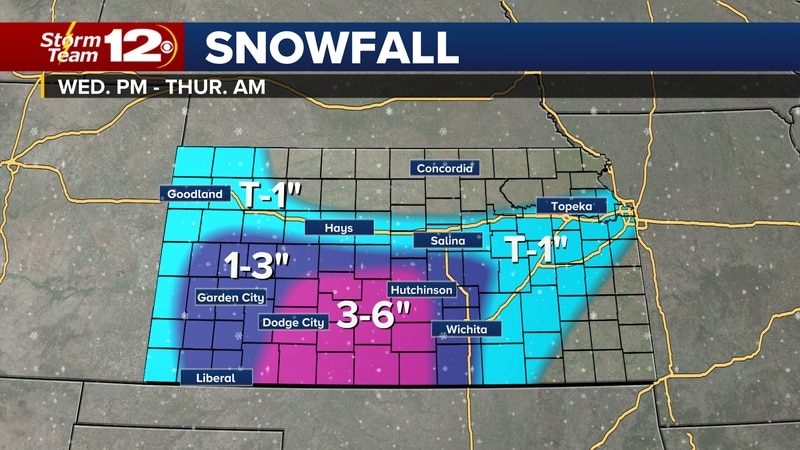 Snow is still expected for the area Wednesday night and early Thursday.