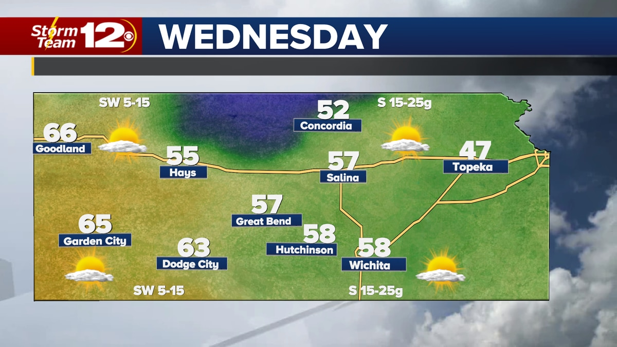 The last mild day for awhile on Wednesday.