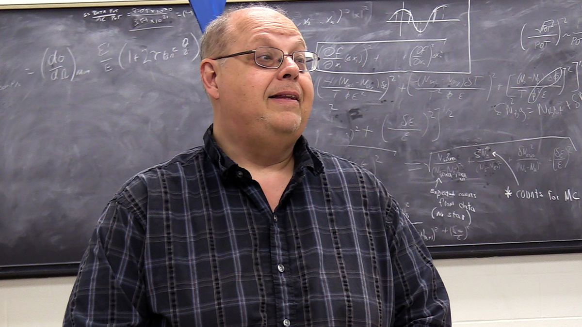Wichita State University professor of physics, Dr. Nick Solomey